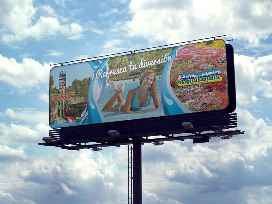 cartel aqualandia benidorm