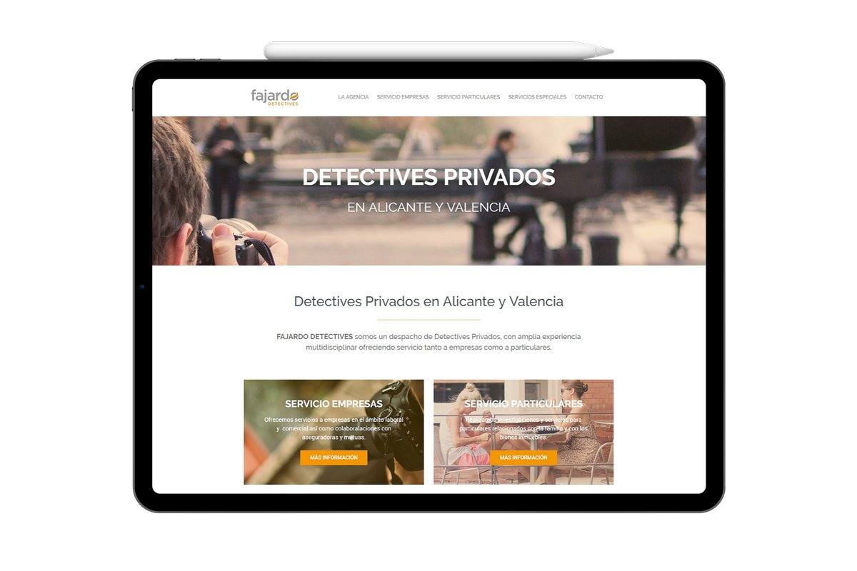 Página web Fajardo Detectives