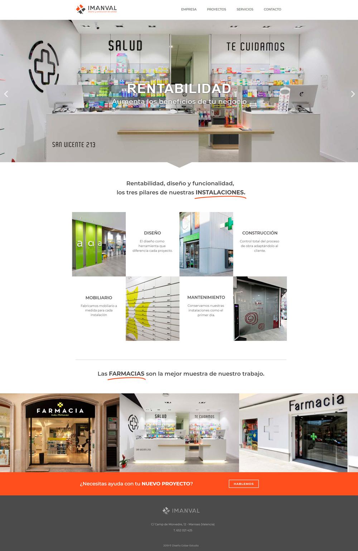 Página web imanval.com