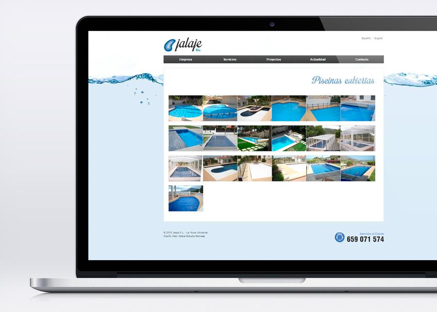 pagina web piscinas jalaje