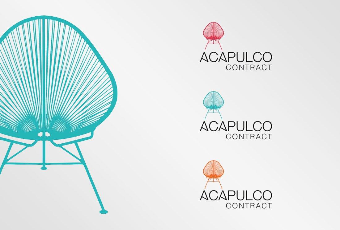 Logotipo de colores Acapulco Contract