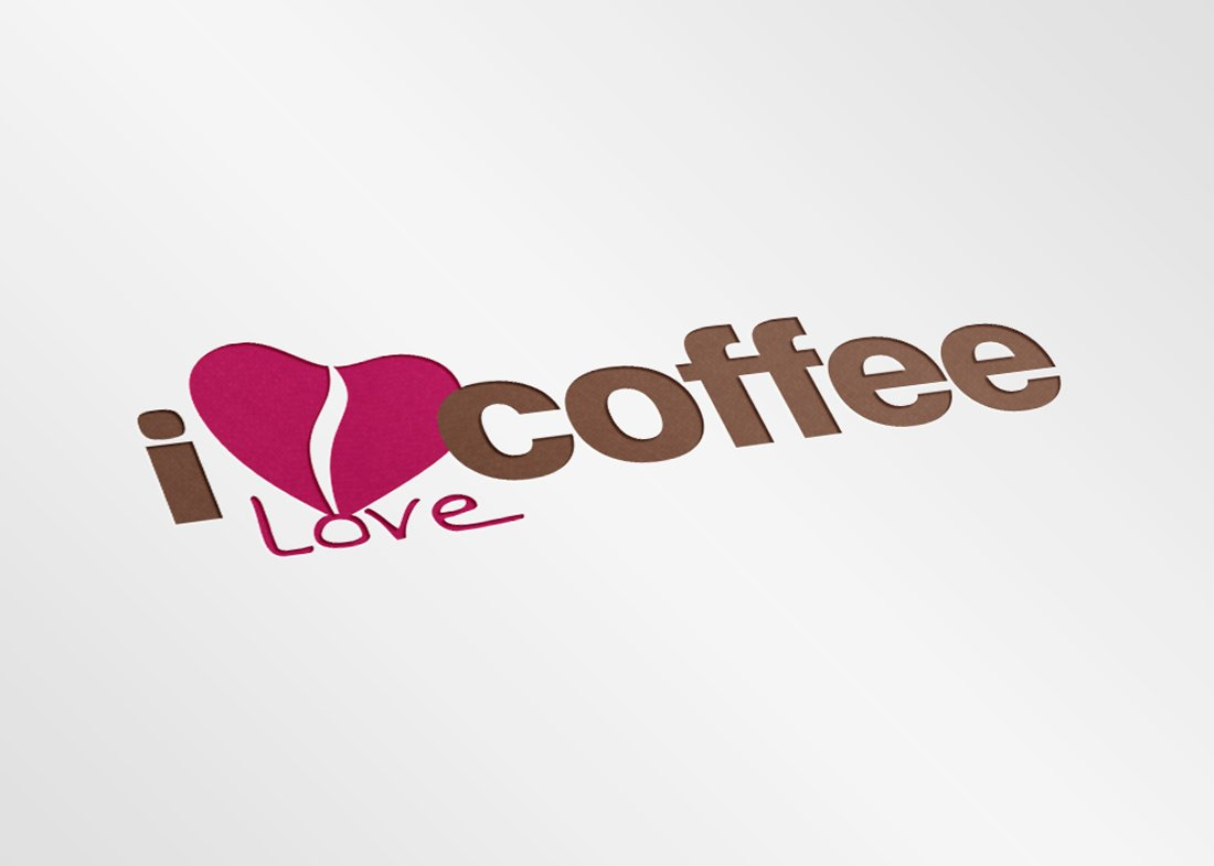 Logotipo I love coffee