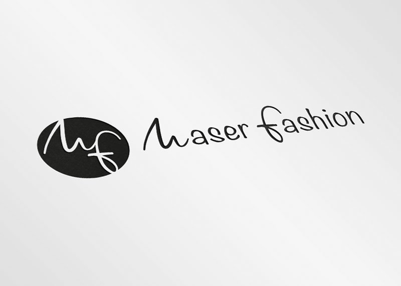 Logotipo moda logística maser fashion