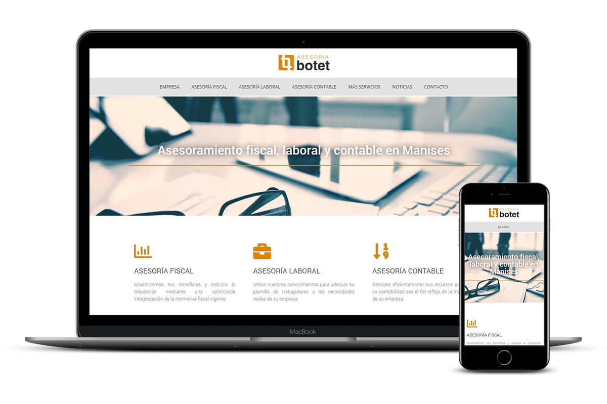 Página web corporativa Asesoría Botet Manises