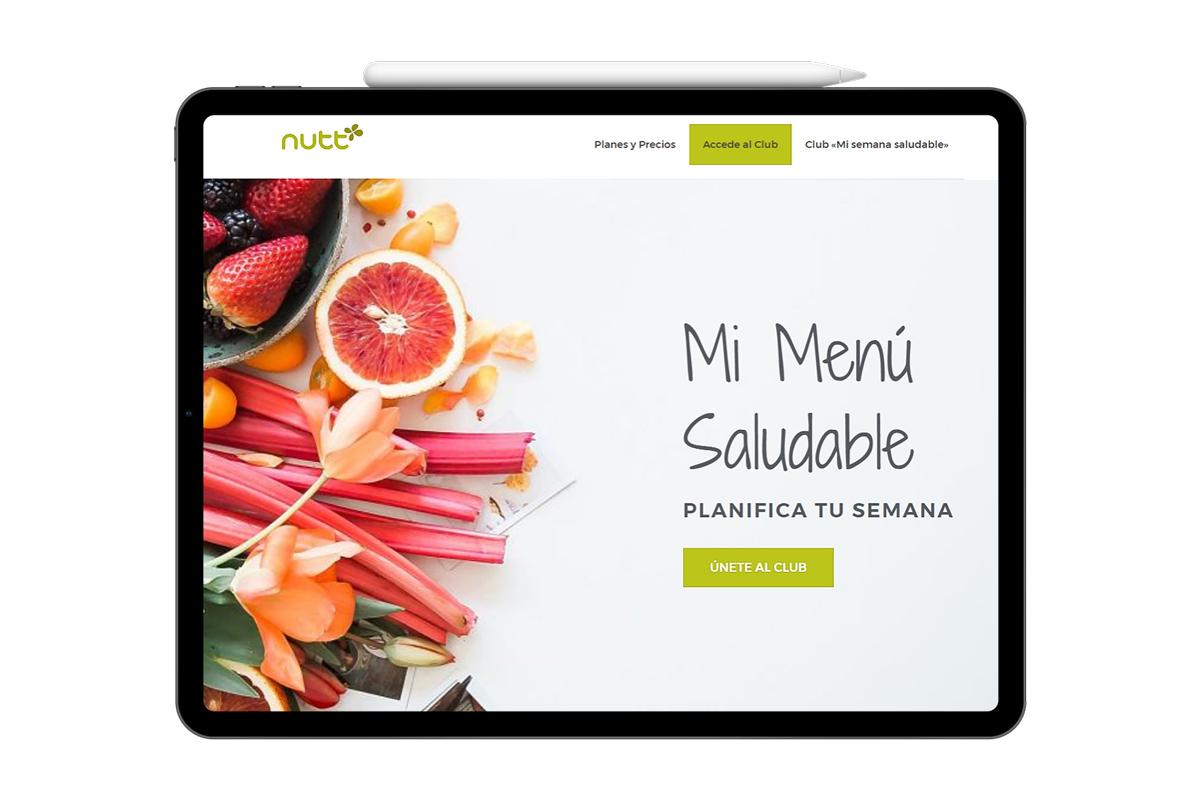 Página web mi menú saludable