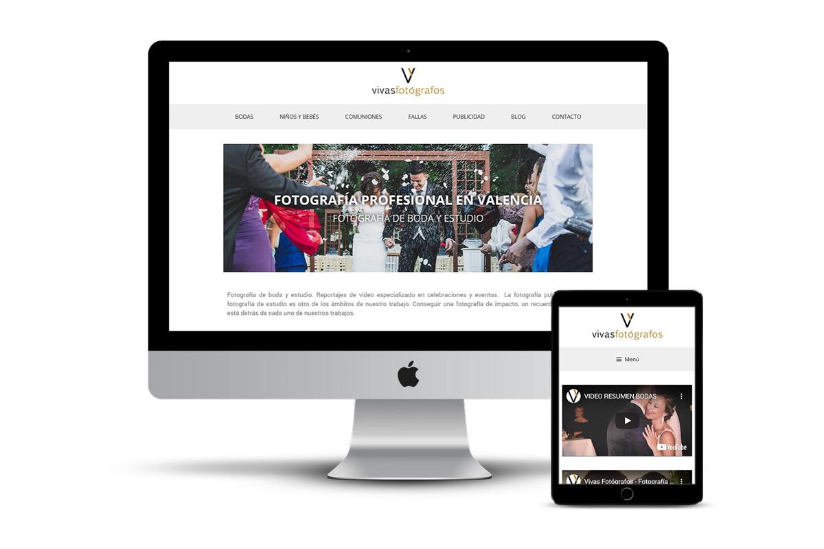 Página web Vivas Fotógrafos