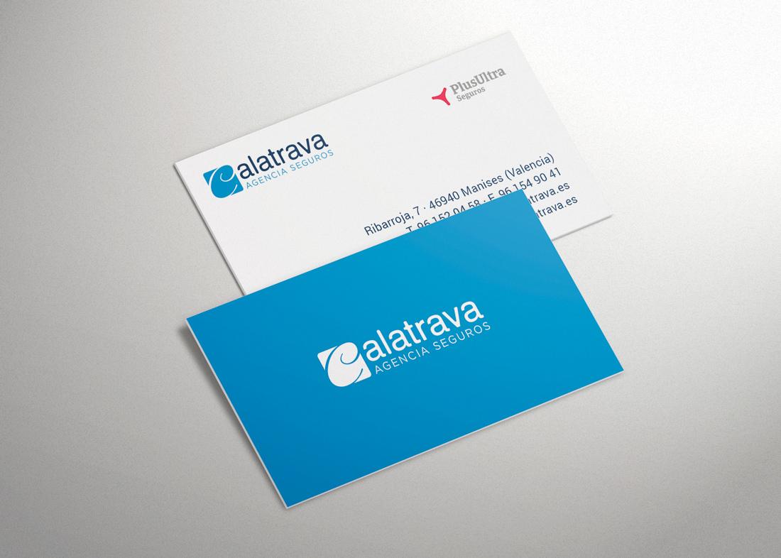 Tarjetas de visita Agencia Seguros Calatrava
